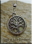 Yggdrasil Tree of Life Pendant on Green Jasper - Nurture Me Necklace