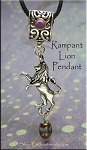 Rampant Lion Pendant - House Lannister Game of Thrones Inspired