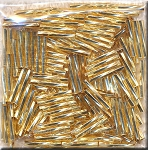 12mm Miyuki Twisted Bugle Beads Silver Lined GOLD