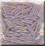 12mm Miyuki Twisted Bugle Beads, Matte Light Amethyst AB