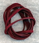 BURGUNDY RED 3mm Micro Fiber Suede Cords