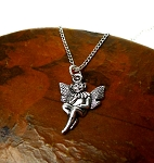 Silver Fairy Necklace, Elf Necklace