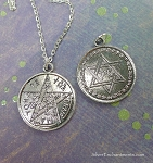 Star of David Tetragrammaton Necklace, Jewish Mysticism