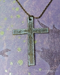 Large Cross Necklace, Rustic Cross Pendant Necklace, Cross Jewelry