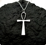 Large Ankh Necklace, Everyday Silver Egyptian Jewelry