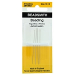SOLDOUT - English Beading Needles, Size 10, 12, 13, 4-piece pack