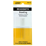 English Beading Needles, Size 12, 4-piece pack