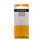 English Beading Needles, Size 15, 4-piece pack