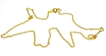 Gold Plated Necklace Chain, 18-inch
