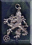 Sterling Silver Gryphon with Dangling Pentacle Pendant