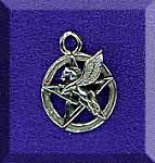 Sterling Silver Pegasus Pentacle Charm, Pentacle with Pegasus Necklace