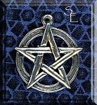Sterling Silver Pentacle Pendant