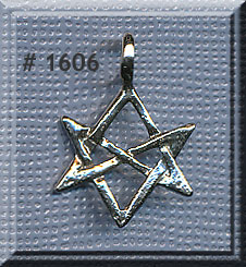 Sterling silver hexagram bailed unicursal thelema mozeypictures Images