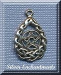 Sterling Silver Celtic Teardrop Pentacle Charm