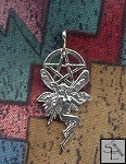Sterling Silver Fairy Pentacle Pendant, Bailed