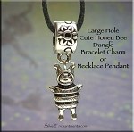 Honey Bee Large Hole Dangle Pendant - Fits All European Add a Bead Jewelry