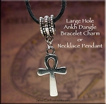 SOLDOUT - Ankh Large Hole Dangle Charm Pendant Add a Bead Jewelry