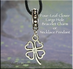 Shamrock Large Hole Bracelet Charm or Necklace Pendant