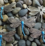 Dragonfly Jewelry Centerpiece with Blue Patina