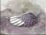 ZSOLDOUT / Angel Wing Bracelet Centerpiece, Silver with Orchid Purple Glam Patina