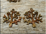 Bronze Tree Pendant with Copper Rust Patina