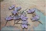 Dragonfly Pendant with Lavender Patina