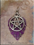 SOLDOUT - Fancy Pentacle Pendant with Amethyst Patina, 2-piece Pendant