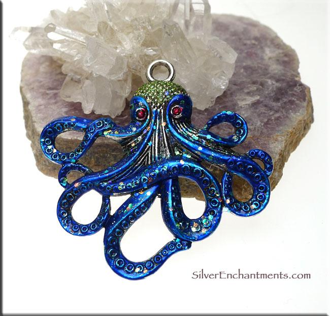 Large Octopus Pendant Fantasy Kraken Cthulhu Pendant