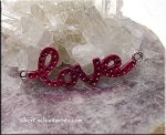 Love Jewelry Centerpiece with Red Carpet Glow Patina