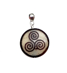 Bone Triskellion Pendant, Celtic Spiral Pendant, Triskele Necklace Pendant