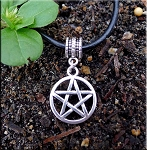 Pentacle Large Hole Pendant, Antique Silver Big Hole Pentagram