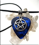 SOLDOUT - Pentacle Guitar Pick Pendant Necklace, Blue