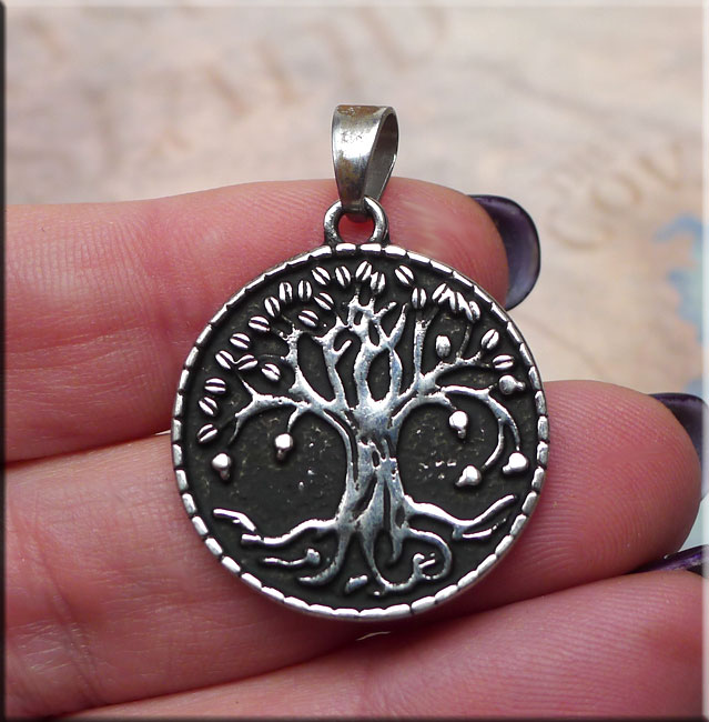 Bailed Tree Of Life Medallion Pendant Necklace