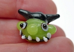 Goblin Beads, Lampworked Glass, Halloween Beads