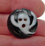 SOLDOUT - Ghost Beads, Lampworked Glass, Halloween Beads