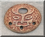 ZSOLD / Ceramic Tribal Face Focal Pendant, Oval