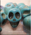 3D Side Drilled Skull Charm Bead