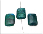 Chrysocolla Pendants, 20x15mm Rectangle Focal Pendant Beads (1)