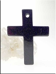 Blue Goldstone Cross Pendant