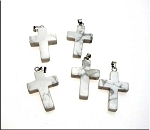 Natural White Howlite Cross Necklace - Everyday Christian Jewelry