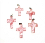 Cherry Quartz Cross Pendant, Cherry Quartz Cross Necklace - Everyday Spiritual Jewelry
