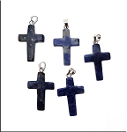 Lapis Lazuli Cross Pendant, Lapis Gemstone Cross Necklace (1)