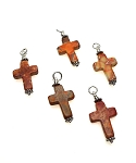 Jasper Cross Necklace, Coral Sea Sediment Jasper - Everyday Christian Jewelry