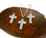 Bailed Howlite Cross Pendant