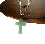 Aventurine Gemstone Cross Necklace