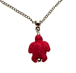 Sea Turtle Necklace Pendant, Red