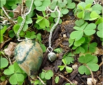 SOLD - RAINFOREST JASPER Pendulum with Pouch Green Rhyolite Gemstone Pendulum for Reiki Divination Energy Work Dowsing