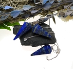 SOLDOUT - LAPIS Pendulum with Protective Pouch Lapis Lazuli Gemstone Pendulum for Reiki Divination Energy Work Dowsing