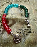 Women's Mysteries Triple Goddess Pagan Prayer Meditation Beads