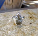Sterling Silver Picasso Jasper Ring Size 9